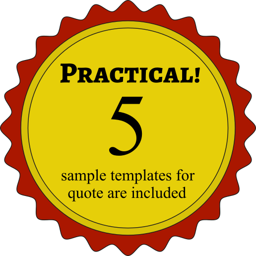Practical! 5 sample templates for quote are included.